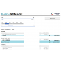 Income Statement Excel Refreshable Report - Dynamics GP