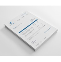 Clean and Modern Sales Invoice Template Design - Sage X3